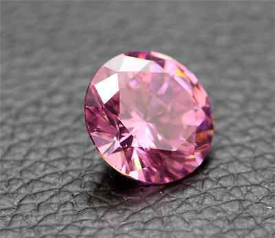 11.38Ct Pink Sapphire Unheated 12Mm  Diamond Round Cut Shape Vvs  Loose Gemstone
