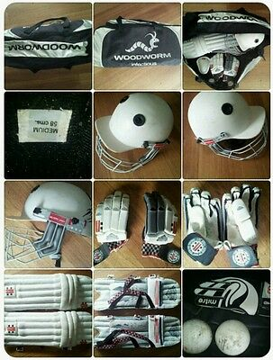 Gray Nicolls cricket gear pads balls box gloves helmet woodworm bag youth
