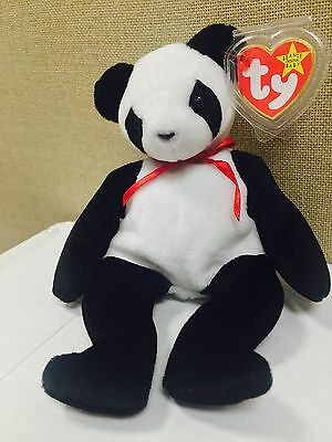 "Ty Beanie Baby ""Fortune"" Panda Bear Retired 12/6/1997 Tush Errors RARE"