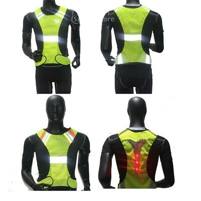 High Visibility Reflective Vest Waistcoat Safe Jacket for Outdoor Running Sports