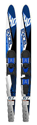 """*New* HO Excel Combo Double Water skis 67"""" Teens/ Adults"""