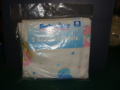 Riegel Babycare Fitted Bassinet Sheets 2 pack 100% Cotton