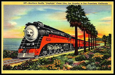 Southern Pacific Railroad FRIDGE MAGNET 6x8 California Travel Magnetic Poster