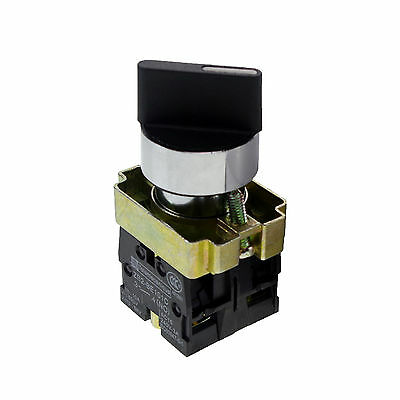 XB2BD25C 1 NO 1 NC 2 Positions Latching Select Selector Switch 22mm Mount