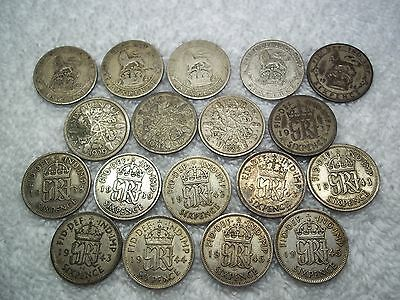 1920 - 1945 Great Britain 6 pence Old World silver coins 18 --shown