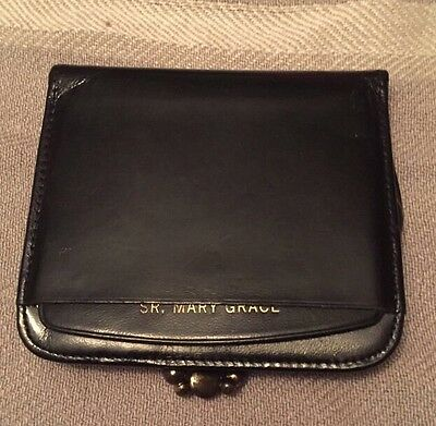 Vintage St. Thomas Saratoga Duo Wallet - Black Leather - Good Condition!