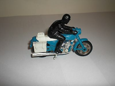 Majorette 203 police motorcycle & rider 1980. Scale 1:55. No box. More for sale.