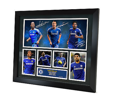 Chelsea FC Signed 2015 photo Framed Memorabilia Limited Edition of 250