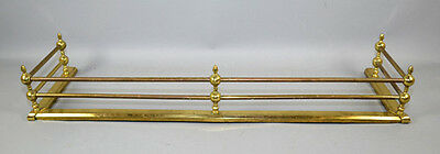 Antique Polished BRASS FIRE PLACE FENDER / ANDIRONS / CHENET