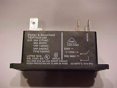 1 New--- Potter & Brumfield T92P7A22-240 Relay--- Free Shipping