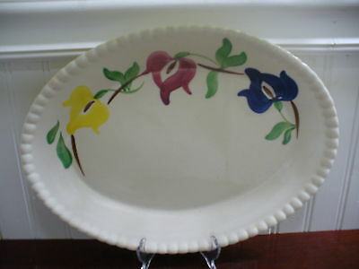 Blue Ridge Southern Pottery Handpainted Large Carnival Floral Motif Oval Platter
