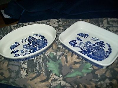 Blue Willow Baking Dishes