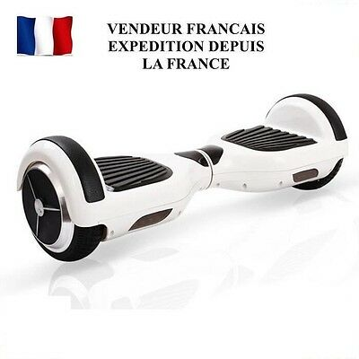 BLUETOOTH Hoverboard skateBoard gyropode overboard a LED Neuf CADEAU NOEL Blanc