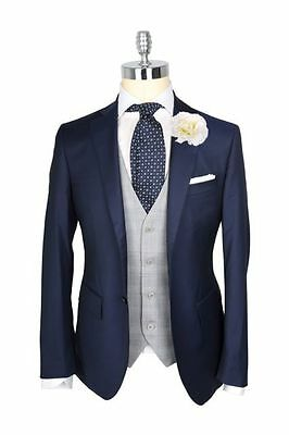 New Formal Blue Men's Wedding Suits Groom Business Man Party Prom Tuxedos