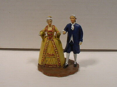 Lang & Wise Colonial Williamsburg Couple Attending Governor Ball Nice Cond No Bx
