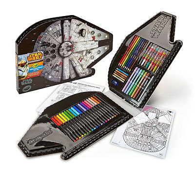 Crayola Star Wars Art 75 Pieces Craft Kit Markers Pencils Crayons Kids Gift NEW4