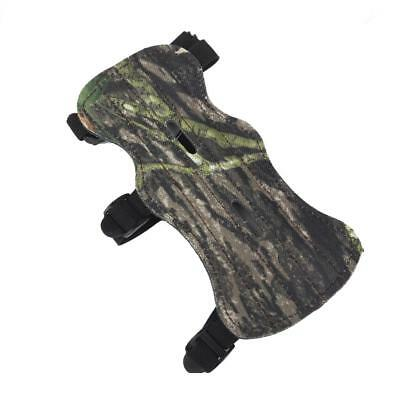 Archery Camouflage Leather Arm Guard Protector with 3 Adjustable Straps