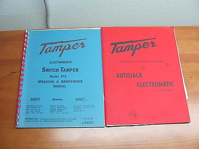 Lot of 2 Manuals For Tamper Inc Switch Tamper STA & Autojack E-5 EJ-5 D&RGW MOW