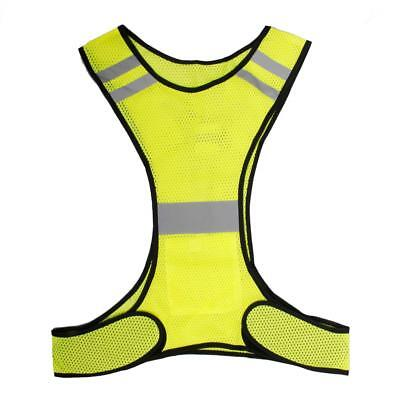 Night Cycling Running Reflective Fluorescent Yellow Ultra-light Safety Vest