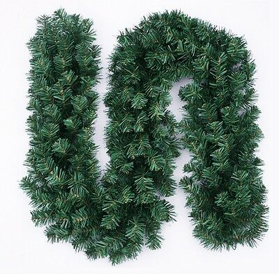 2.7m (9ft) Artificial Christmas Garland Fake Pine Tree Home Decoration Ornament