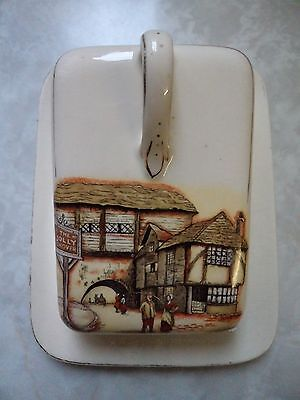 """Vintage Lancaster & Sandland Ware Cheese Dish 'The Jolly Drover' 7.25"""" x 5.75"""""""