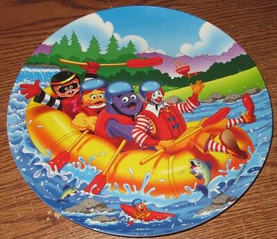 """McDonalds Plate 1998 9 1/2"""" Plastic Collector's Plate White Water Rafting Used"""