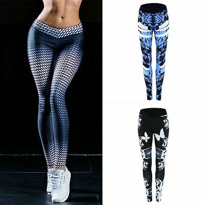Women Sports Trouser Yoga Printed Workout Gym Leggings Fitness Athletic Pants
