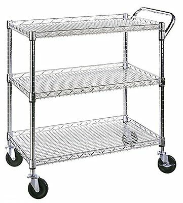 Industrial All-Purpose Food And Utility Cart, NSF Listed