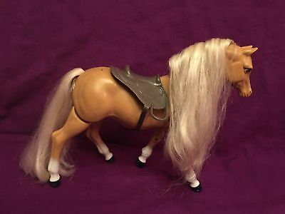 Barbie Walking Horse With Saddle 1993 Mattel Toy Pretend Play Works