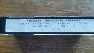"""Morrissey """"Introducing Morrissey"""" Advance/Promotional VHS Video (1995)"""