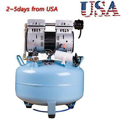 Noiseless Oil Free Oilless Air Compressor 550W 130L/m for Dental Chair USA Fast