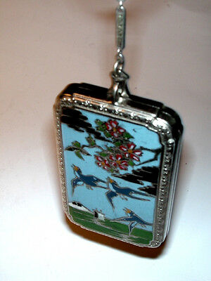 VERY Rare! ART DECO ENAMELED DANCE COMPACT by J.M. FISHER Absolutely EXQUISITE!