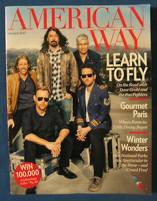 """Foo Fighters-""""2015 American Way Magazine""""  Dave Grohl-Nirvana-Curt Cobain-Great!"""