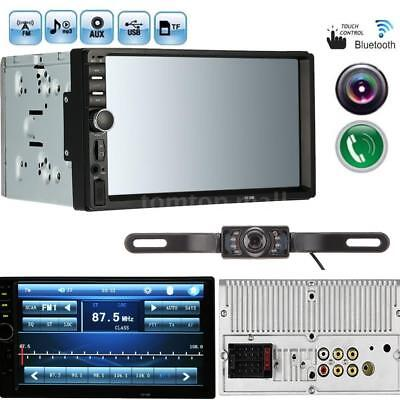 7 Inch Touch LCD 2-DIN In Dash Bluetooth Auto Car Stereo MP5 Player + HD Camera
