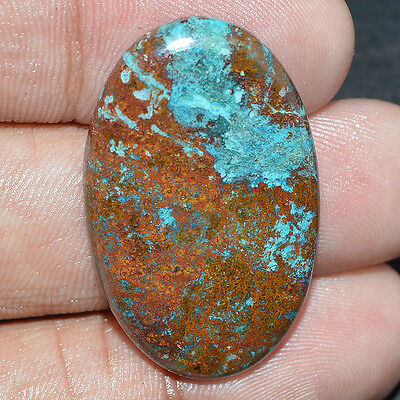 24.15 Cts.100% NATURAL DESIGNER AZURITE OVAL SHAPE CABOCHON TOP LOOSE GEMSTONE