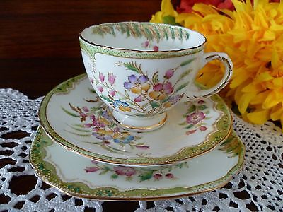 Sutherland Bone China Made In  England Trio  Very Pretty