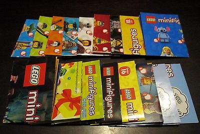 NEW Lego Series Collectible Minifig Checklists/ Codes--Lot Of 17--All Different!