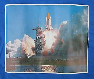 "Space Shuttle Blastoff-""1982 Cape Canaveral Poster"" Challenger-Space Travel"