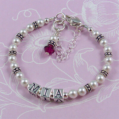 Baby Name Bracelet - First Birthday,First Christmas,Christening,Keepsake Gift