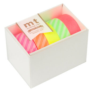 NEW MT Washi Tape Vertical Neon 5pk