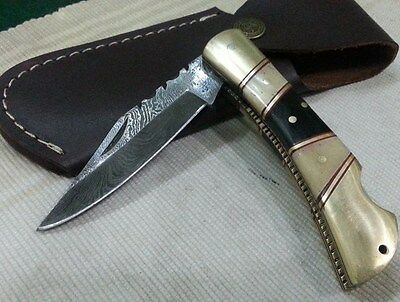 "Custom made ""Knife king's Mithril"" Damascus Puma Knife with sheath"