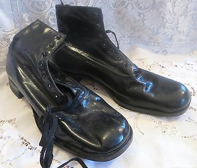 Vintage Mens Lace Up Ankle Boots Dead Stock Friedman Shelby