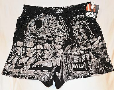 STAR WARS Large L 100% Cotton Boxers Darth Vader Storm Troopers Disney NWT!