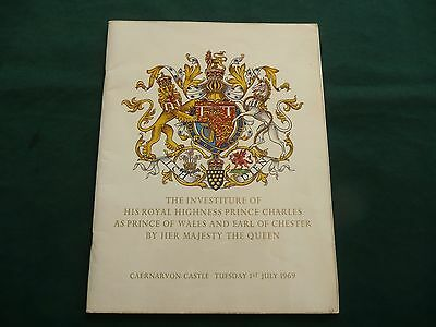 Prince Charles 1969 - Souvenir Brochure Book - Investiture As Prince Of Wales