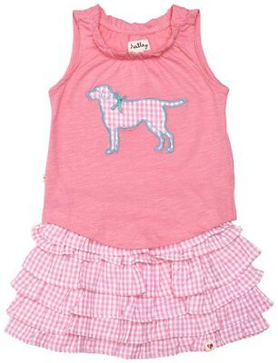 Hatley Girl's Play Set - Pink Gingham Labs Tank & Skirt [Age: 5 Years]