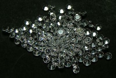 50 Pcs. Round 2.5 Mm. Machine Cut White Sapphire Lab Corundum
