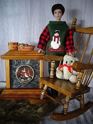 "AllforDoll OOAK DIORAMA 1:4 scale Furniture Set for 16"" Tonner Sydney Gene Dolls"