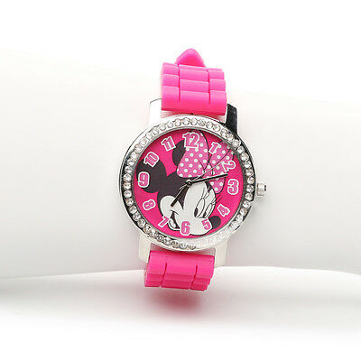 New Official Disney Minnie Mouse Pink Girl's Watch New In Box