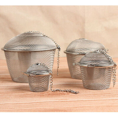 Tea Ball Spice Strainer Mesh Infuser Filter Herbal Sieve Tool #Fancychu25
