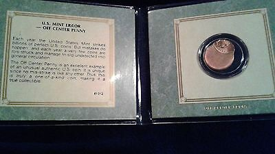 USA One Cent/Penny - off center/error coin - American Historical Society